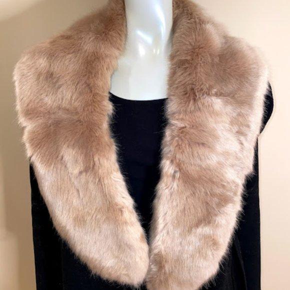 Zara Faux Fur Rose Pink Shawl